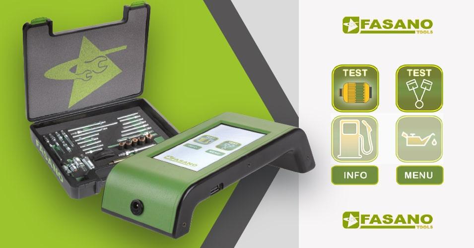 FG 215/S40 Digital compression tester + set of fake glow plugs