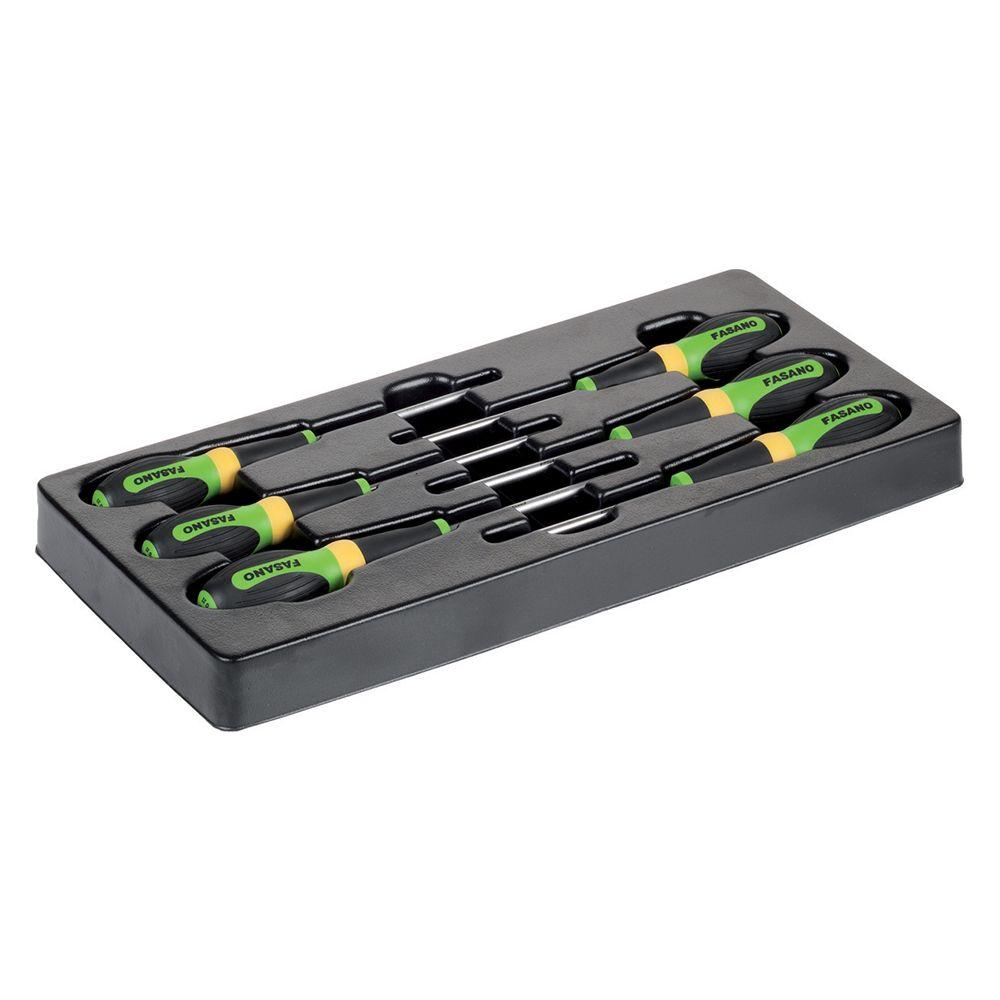 Plastic tray of 6pcs Tamper Resistant Torx screwdrivers