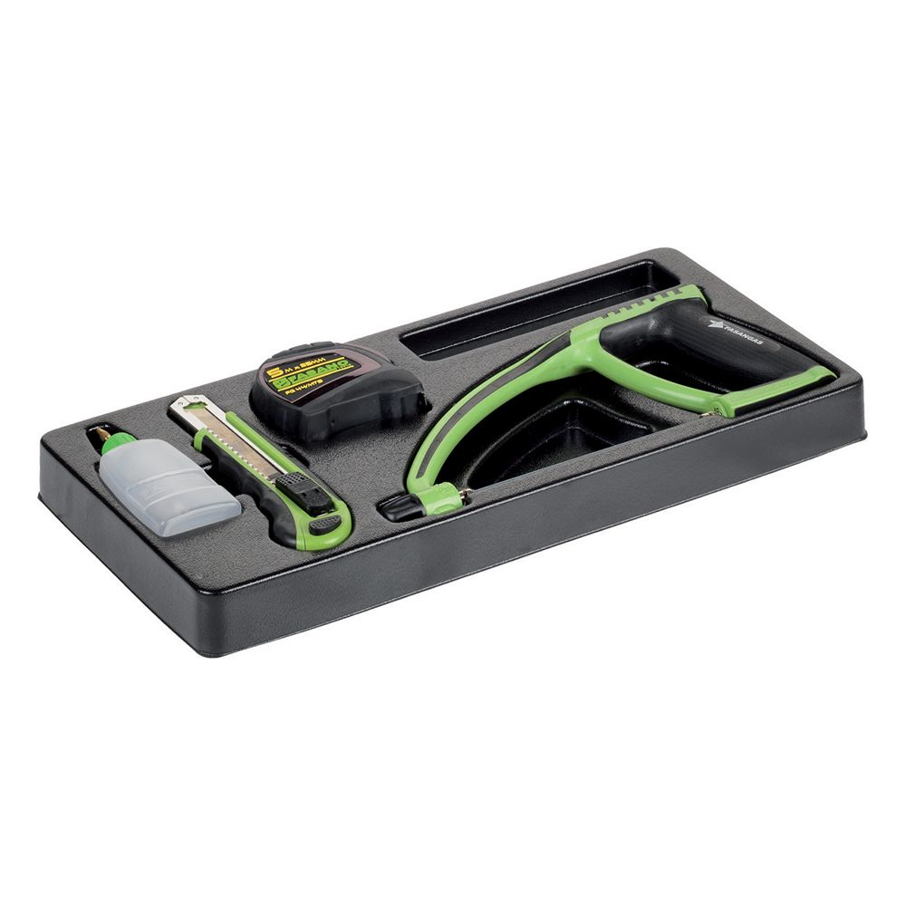 Plastic tray of cutting tools