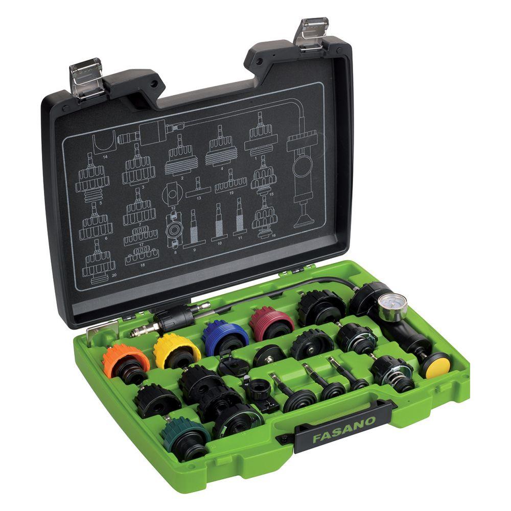 Radiator cap pressure kit