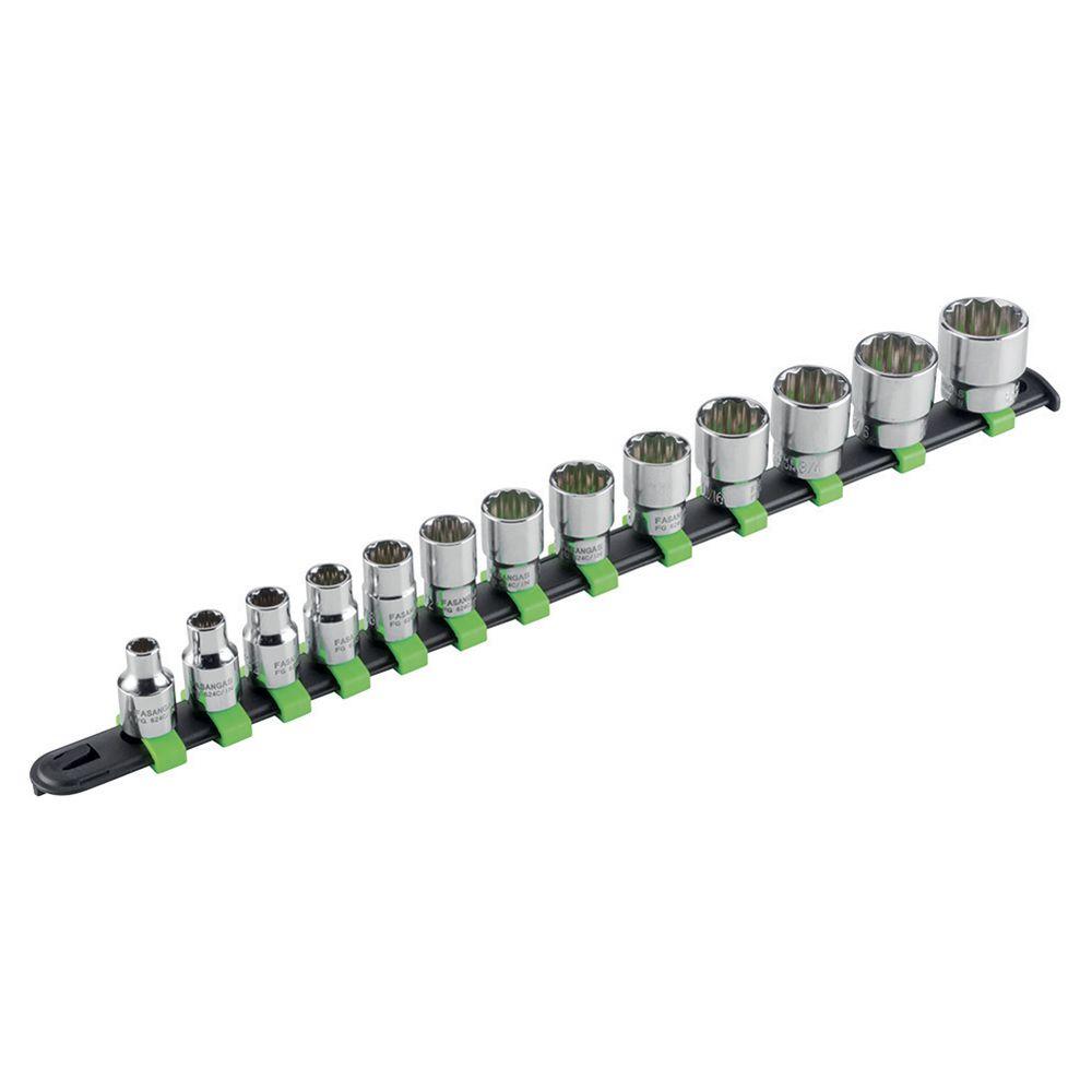 3/8''dr 12PT sockets set - inch series