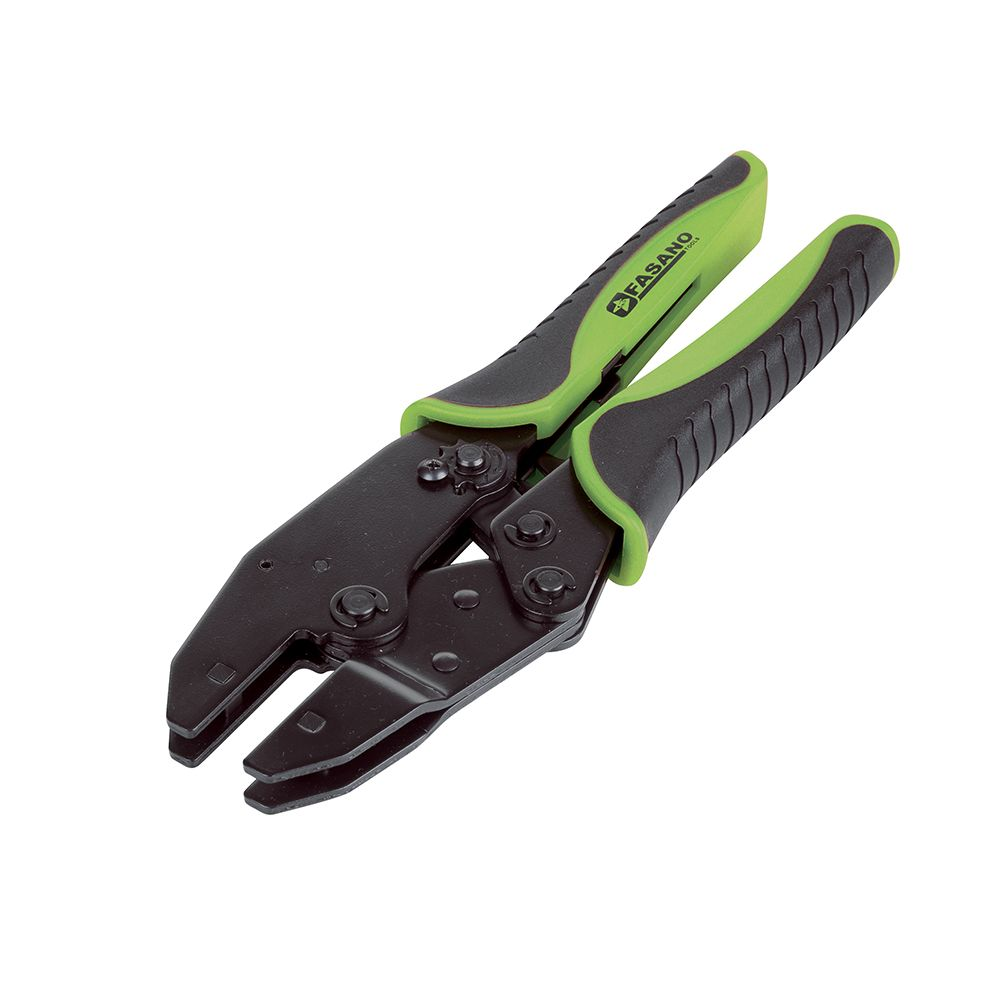 Universal crimping pliers with interchangeable dies