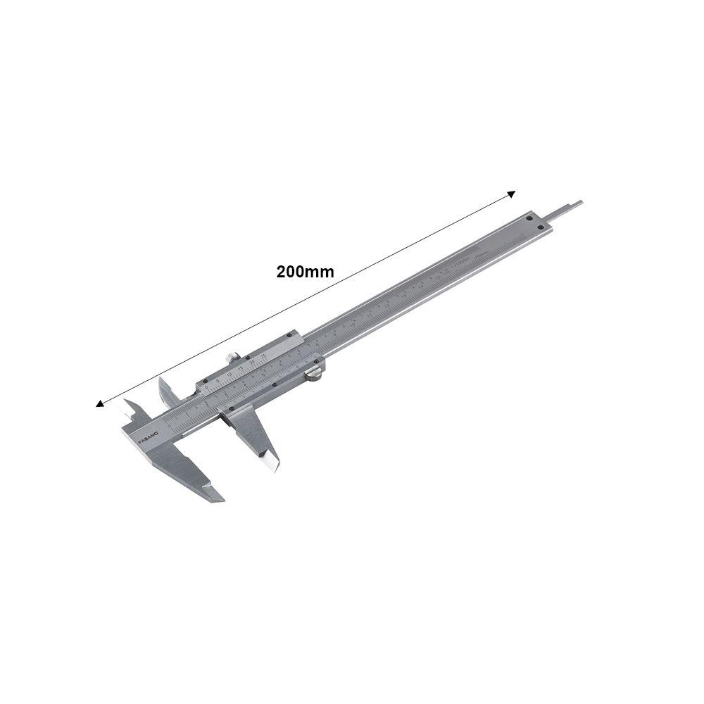 Professional caliper, reading to 0.02mm - L: 200mm
