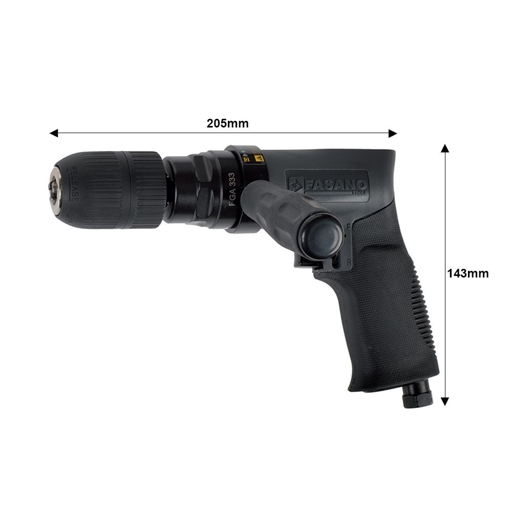 Air drill with automatic chuck, 1-13mm