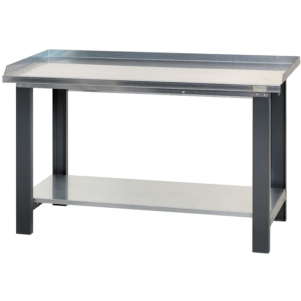 Workbench with steel worktop -1.5m