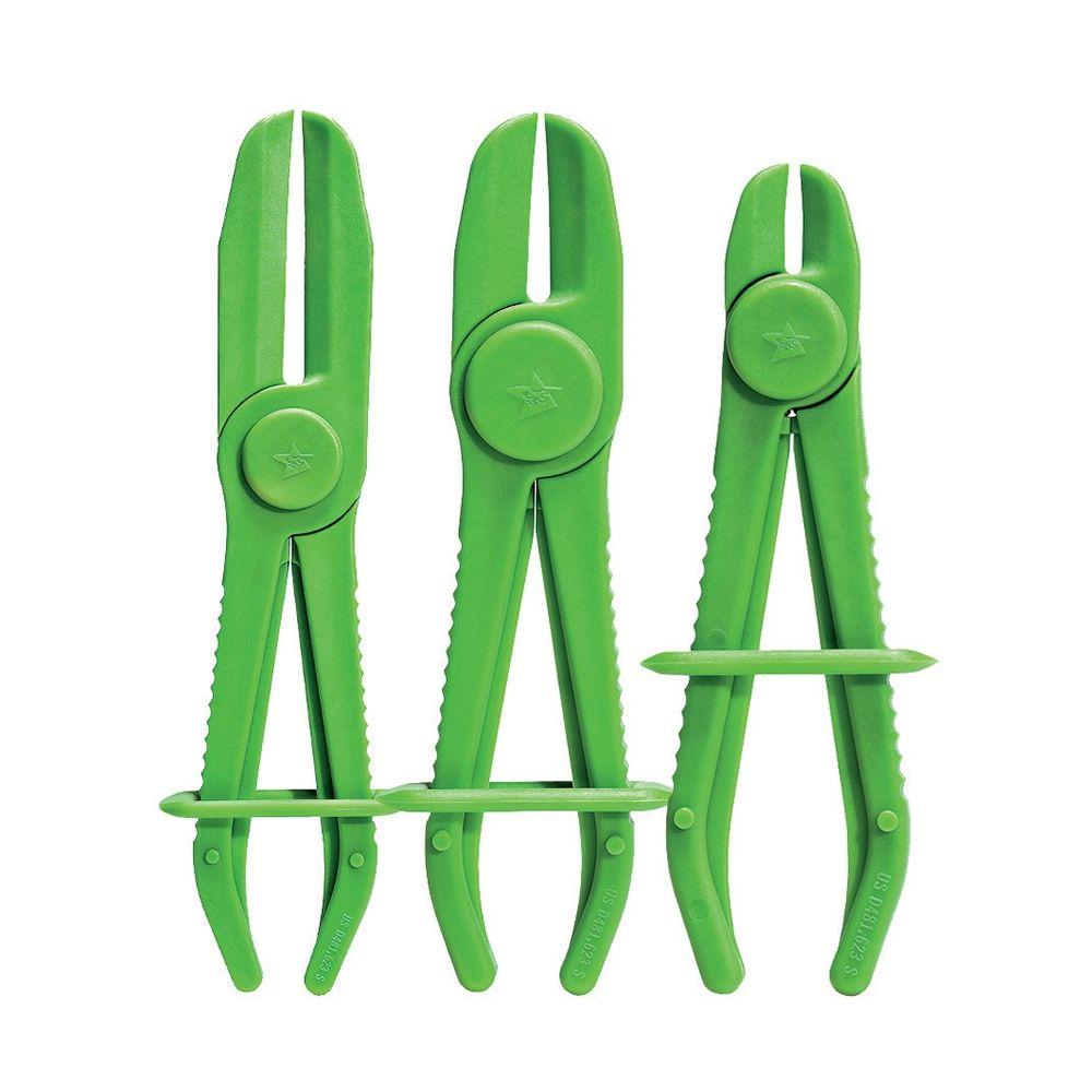 Set of 3 plastic hose pliers