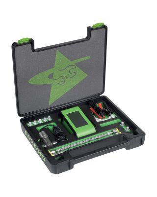 Multi-function digital tester for engine compression, fuel pressure and engine oil pressure