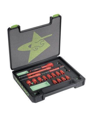 3/8''dr. Insulated sockets set - 1.000V