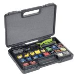 Universal crimping pliers set with interchangeable dies