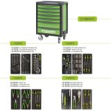 Tool Box FG 100 with 7 drawers and 193pcs assortment of professional tools