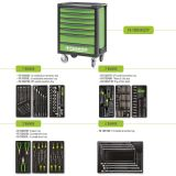 Tool Box FG 100 with 7 drawers and 229pcs assortment of professional tools