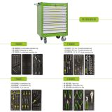 Tool Box FG 102 with 7 drawers and 149pcs assortment of professional tools