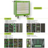 Tool trolley FG 104 with 7 drawers completed of 248 tools in EVA form