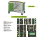 Tool boxes with 14 drawers - mod FG 160 + 6 drawers with assortment
